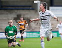 Raith Rovers' Joe Cardle celebrates after he scores their fourth goal.
