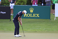 Matt Wallace (ENG) on the 15th green during the 1st round of the DP World Tour Championship, Jumeirah Golf Estates, Dubai, United Arab Emirates. 21/11/2019<br /> Picture: Golffile | Fran Caffrey<br /> <br /> <br /> All photo usage must carry mandatory copyright credit (© Golffile | Fran Caffrey)