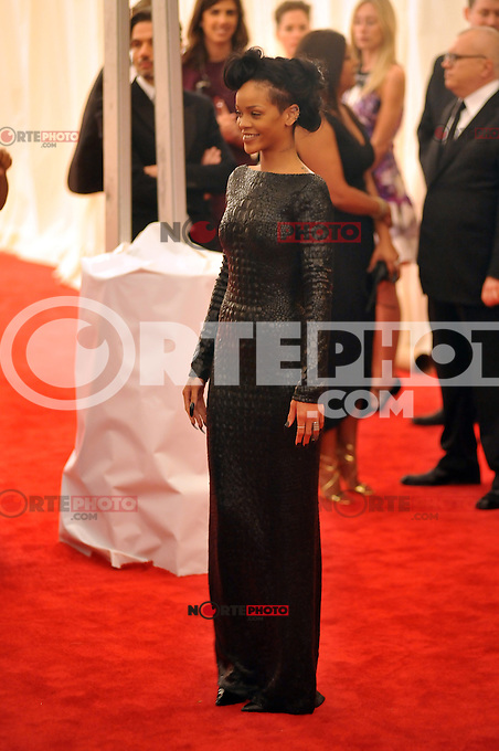 Rihanna at the 'Schiaparelli And Prada: Impossible Conversations' Costume Institute Gala at the Metropolitan Museum of Art on May 7, 2012 in New York City. © mpi03/MediaPunch Inc.