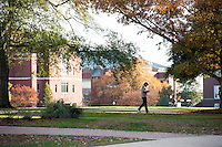 Drill field fall - students walking<br />  (photo by Megan Bean / &copy; Mississippi State University)