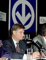 FILE -  Serge Menard lors de l' Annonce du prolongement du metro vers Laval, le 8 Octobre 1998<br /> <br /> <br /> PHOTO : Agence Quebec Presse