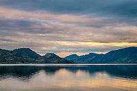 Sunset on Okanagan Lake in British Columbia, Canada. <br />