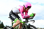 EF-Drapac-Cannondale rider in action during Stage 4 of the Paris-Nice 2018 an 18km individual time trial running from La Fouillouse to Saint-Etienne, France. 7th March 2018.<br /> Picture: ASO/Alex Broadway | Cyclefile<br /> <br /> <br /> All photos usage must carry mandatory copyright credit (&copy; Cyclefile | ASO/Alex Broadway)