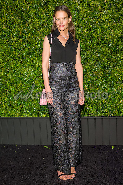 18 April 2016 - New York, New York- Katie Holmes. Chanel Artists Dinner at Tribeca Film Festival. Photo Credit: Mario Santoro/AdMedia