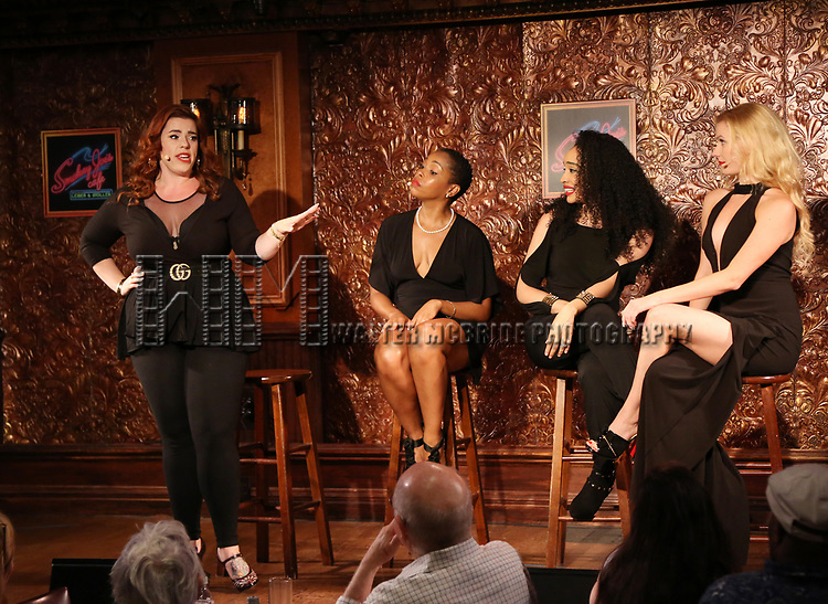 Alysha Umphress, Dionne D. Figgins, Nicole Vanessa Ortiz, and Emma Degerstedt during the Press Preview Presentation for the new production of 'Smokey Joe's Cafe' at Feinstein's/54 Below on June 27, 2018 in New York City.