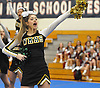 Nicole D'Angelo and the Ward Melville varsity cheerleaders perform during an invitational competition held at Smithtown High School West on Saturday, Dec. 17, 2016.
