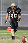 Palos Verdes, CA 10/28/11 - Justin Evans (Peninsula #76) in action during the Mira Costa - Peninsula varsity football game.