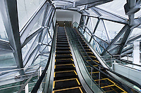 Kone escalator in Culture Center at Shanghai Expo 2010, in Shanghai, China, on June 3, 2010. Photo by Lucas Schifres/Pictobank