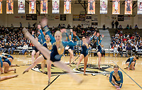 NWA Democrat-Gazette/CHARLIE KAIJO Bentonville High School dancers perform during a basketball game on Friday, January 12, 2018 at Bentonville High School in Bentonville.