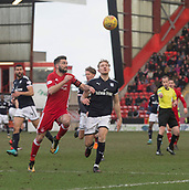 17th March 2018, Pittodrie Stadium, Aberdeen, Scotland; Scottish Premier League football, Aberdeen versus Dundee; Graeme Shinnie of Aberdeen and A-Jay Leitch-Smith of Dundee