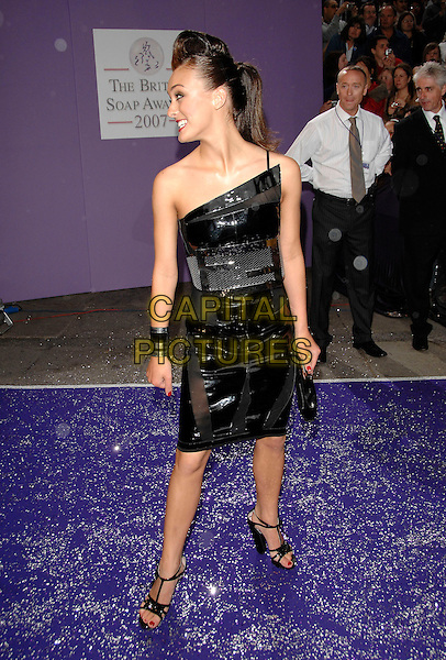 LOUI BATLEY.Arrivals at the British Soap Awards 2007,.BBC Television Centre, London, England, .May 26, 2007..full length black one shoudler Fendi dress bag shoes strappy designer.CAP/PL.©Phil Loftus/Capital Pictures