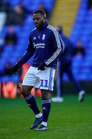 1st February 2020; St Andrews, Birmingham, Midlands, England; English Championship Football, Birmingham City versus Nottingham Forest; Jérémie Bela of Birmingham City warms-up prior to the match