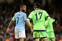 Manchester City's Raheem Sterling wears the Captains armband<br /> <br /> Photographer Rich Linley/CameraSport<br /> <br /> UEFA Champions League Round of 16 Second Leg - Manchester City v FC Schalke 04 - Tuesday 12th March 2019 - The Etihad - Manchester<br />  <br /> World Copyright © 2018 CameraSport. All rights reserved. 43 Linden Ave. Countesthorpe. Leicester. England. LE8 5PG - Tel: +44 (0) 116 277 4147 - admin@camerasport.com - www.camerasport.com