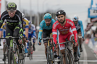Nacer Bouhanni (FRA/Cofidis) crosses the finish line in the bunch<br /> <br /> 69th Kuurne-Brussel-Kuurne 2017 (1.HC)