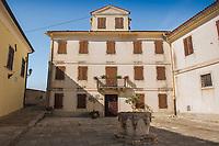 Andrea Antico Square in the town of Motovun, Istria County, Croatia