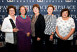 WATERBURY, CT-091318JS10--Marie Vitarelli; Elaine Strobel; Elaine Dean; Patricia Varanelli and Pat Bosco at the inaugural &quot;Thank You&quot; receipting for the founding members of the new Palace Theater Marquee Society of Women at the Palace Theater's Pool Club. <br /> Jim Shannon Republican American
