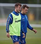 01.08.2018 Rangers training: Andy Halliday and Ryan Jack