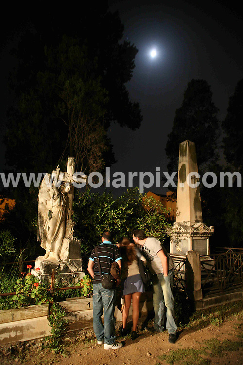 **ALL ROUND PICTURES FROM SOLARPIX.COM**                                             **WORLDWIDE SYNDICATION RIGHTS EXCEPT SPAIN & SOUTH AMERICA - NO SYNDICATION IN SPAIN OR SOUTH AMERICA**                                                                                  Caption:  Nocturnal visit to the English Cemetery in Malaga, the Christian cemetery built in 1831 on land donated by the Governor of the then Malaga Britist Consulate and was later transferred to the government by Royal Decree. Malaga, Spain. 17 May 2011.                                                                             This pic: English Cemetery in Malaga                                                                                             JOB REF: 13365 MPA       DATE: 17_05_2011                                                            **MUST CREDIT SOLARPIX.COM OR DOUBLE FEE WILL BE CHARGED**                                                                      **MUST AGREE FEE BEFORE ONLINE USAGE**                               **CALL US ON: +34 952 811 768 or LOW RATE FROM UK 0844 617 7637**