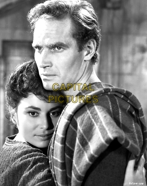 Ben-Hur (1959) <br /> Charlton Heston &amp; Haya Harareet<br /> *Filmstill - Editorial Use Only*<br /> CAP/KFS<br /> Image supplied by Capital Pictures