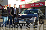 Karin and Helmut Jakuvowski getting a test drive in the new Kia Proceed withKia Motors Salesman Mike Kennedy in  McElligotts Garage, Oakpark, Tralee.