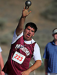 Sterling Freeman, from  Pahrump, competes in the shot put at the Special Olympics Nevada 2013 Summer Games in Reno, Nev., on Saturday, June 1, 2013. <br /> Photo by Cathleen Allison
