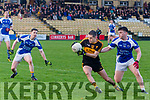 GAA County League Final Dr Crokes vs Kerins O'Rahilly's at the Lewis Road last Sunday. Pictured Brian Looney (Dr Crokes) in action with Karl Mullins (Kerins O'Rahilly's).