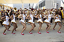 Performance of cheerleards of University of Southern California with the Trojan's band in Expo 2015 for the National day of United States, Rho-Pero, Milan, July 4, 2015. &copy; Carlo Cerchioli<br /> <br /> L'esibizione delle cheerleader dell'Univesit&agrave; del sud California con la banda Trojan's a Expo 2015 per la giornata nazionale degli Stati Uniti, Rho-pPero, Milano, 4 luglio 2015.