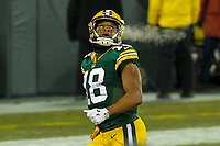 Green Bay Packers wide receiver Randall Cobb (18) during a National Football League game against the Minnesota Vikings on December 23rd, 2017 at Lambeau Field in Green Bay, Wisconsin. Minnesota defeated Green Bay 16-0. (Brad Krause/Krause Sports Photography)