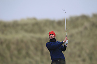 Darren Leufer (Athenry) on the 13th tee during Round 2 of the Ulster Boys Championship at Portrush Golf Club, Portrush, Co. Antrim on the Valley course on Wednesday 31st Oct 2018.<br /> Picture:  Thos Caffrey / www.golffile.ie<br /> <br /> All photo usage must carry mandatory copyright credit (&copy; Golffile | Thos Caffrey)