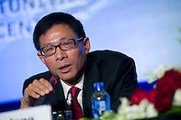 LIU Xiaodong, Executive Vice President, Shanghai Stock Exchange, at Shanghai / Paris Europlace Financial Forum, in Shanghai, China, on December 1, 2010. Photo by Lucas Schifres/Pictobank