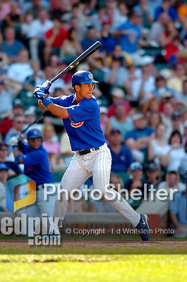 3 July 2005: Ronny Cedeno, shortstop  for the Chicago Cubs, pinch hitting during a game against the Washington Nationals. The Nationals defeated the Cubs 5-4 in 12 innings to sweep the 3-game series at Wrigley Field in Chicago, IL. Mandatory Photo Credit: Ed Wolfstein
