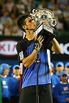 Novak Djokovic(SRB) defeated Jo-Wilfried (FRA) in the Final of the Australian Open Tennis 27-1-2008