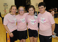 17th November 2013; Lisa McAleer, Nikkita Connaughton, Meabh McCrystll and Caitriona Conneely. She's Ace - Women in handball event, Breaffy House Sports Arena, Castlebar, Co Mayo. Picture credit: Tommy Grealy/actionshots.ie.
