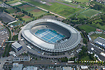 Tokyo Stadium: Tokyo, Japan: Aerial view of proposed venue for the 2020 Summer Olympic Games. (Photo by AFLO)