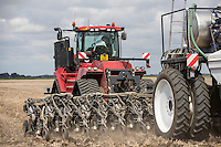 Drilling oil seed rape, applying liqiud nitrogen and slug pellets with a 9m Stripcat drill - Lincolnshire, August