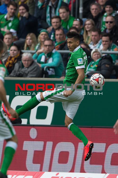 04.04.2015, Weser Stadion, Bremen, GER, 1.FBL. Werder Bremen vs 1. FSV Mainz 05, im Bild<br /> <br /> <br /> Davie Selke (Bremen #27)<br /> <br /> <br /> Foto &copy; nordphoto / Kokenge