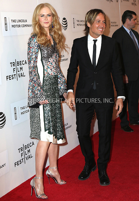 WWW.ACEPIXS.COM<br /> <br /> April 16, 2016 New York City<br /> <br /> Nicole Kidman and Keith Urban arriving at 'The Family Fang' Premiere 2016 Tribeca Film Festival at the John Zuccotti Theater at BMCC Tribeca Performing Arts Center on April 16, 2016 in New York City.<br /> <br /> By Line: Nancy Rivera/ACE Pictures<br /> <br /> <br /> ACE Pictures, Inc.<br /> tel: 646 769 0430<br /> Email: info@acepixs.com<br /> www.acepixs.com