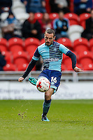 Michael Harriman of Wycombe Wanderers  during the Sky Bet League 2 match between Doncaster Rovers and Wycombe Wanderers at the Keepmoat Stadium, Doncaster, England on 29 October 2016. Photo by David Horn.