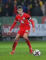 David Brooks of Wales during the international friendly soccer match between Wales and Panama at Cardiff City Stadium, Cardiff, Wales, UK. Tuesday 14 November 2017.