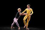 DUETS....Choregraphie : CUNNINGHAM Merce..Mise en scene : CUNNINGHAM Merce..Compositeur : CAGE John..Decor : LANCASTER Mark..Lumiere : LANCASTER Mark SHALLENBERG Christine..Avec :..COLLWES Brandon..WEBER Andrea..Lieu : Theatre de la Ville..Ville : Paris..Le : 20 12 2011 &copy; Laurent Paillier / photosdedanse.com<br /> All rights reserved
