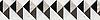 "8 1/16"" Arbus border, a hand-cut mosaic shown in polished Soccoro Grey, Nero Marquina, Carrara, and honed Cavern by New Ravenna."