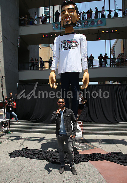 10 July 2017 - Hollywood, California - Wilmer Valderrama. Fuse and Wilmer Valderrama Reveal a 25-foot Wilmer Valderrama Puppet Activation. Photo Credit: F. Sadou/AdMedia