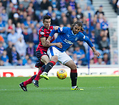 9th September 2017, Ibrox Park, Glasgow, Scotland; Scottish Premier League football, Rangers versus Dundee; Dundee's Cammy Kerr battles for the ball with Rangers' Niko Kranjcar