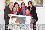 ARTIST: Michael O'Regan launches his painting exhibition at Samhlaiocht in the old St John's Presbytery, Tralee, on Thursday night. Front l-r: Michael O'Regan (Artist) and Kathleen McKew (Fenit). Back l-r: Jim Browne, Myra Spillane, June O'Regan and Tricia Thompson (Tralee)..