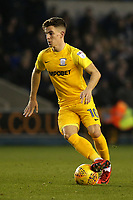 Josh Harrop of Preston North End in action during Millwall vs Preston North End, Sky Bet EFL Championship Football at The Den on 13th January 2018