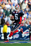 11 October 2009: Buffalo Bills' quarterback Trent Edwards scrambles for yardage against the Cleveland Browns at Ralph Wilson Stadium in Orchard Park, New York. The Browns defeated the Bills 6-3 for Cleveland's first win of the season...Mandatory Photo Credit: Ed Wolfstein Photo