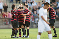 STANFORD, CA - August 19, 2014: Stanford vs CSU Bakersfield men's soccer match in Stanford, California. Final score, Stanford 1, CSU Bakersfield 0.