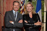 New York City, NY - MAY 23: (L-R) Rob Stone, Lead Studio Analyst and Anne-Claire Legendre  Consul General of France in New York, attend the Fox Sports FIFA Women's World Cup Send-off at the Consulate General of France in New York City. (Photo by Anthony Behar/Fox Sports/PictureGroup)