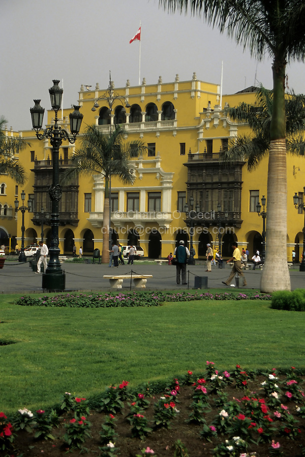 Lima, Peru - Plaza Mayor, a World Heritage Site