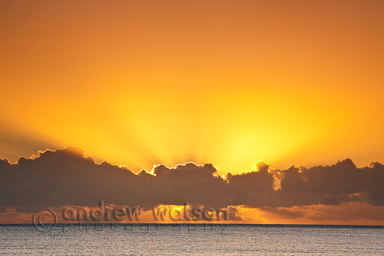 Sunrise over the Coral Sea.  Kewarra Beach, Cairns, Queensland, Australia